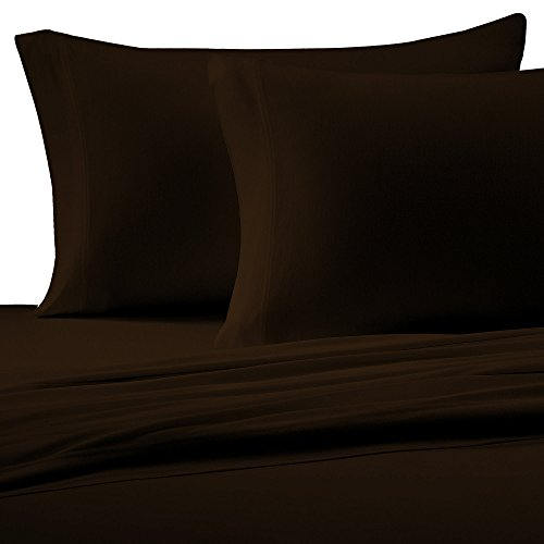 Brielle Cotton Jersey Knit (T-Shirt) Sheet Set, Twin XL, Chocolate