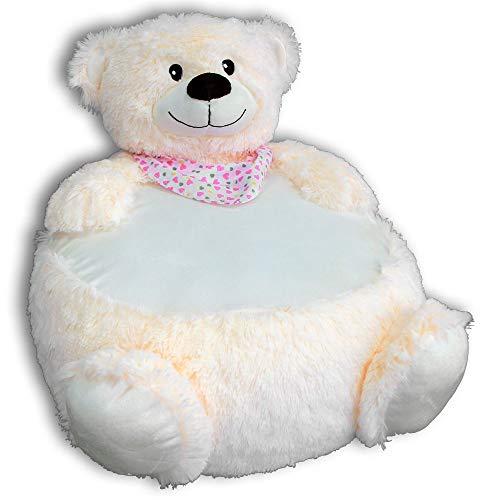 Sunkid Baby-Kinder-Sitzsack Bär Creme