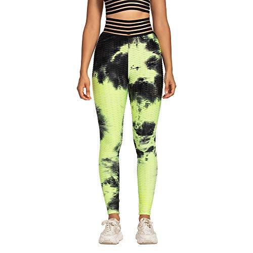 bayrick Celebridad de Internet Mismo Estilo,Tinta Jacquard Vestido Bubble Yoga Pantalones Hip...