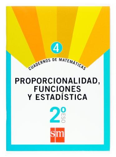 Cuaderno 4 de matemáticas. 2 ESO. Proporcionalidad, funciones y estadística - 9788467515428