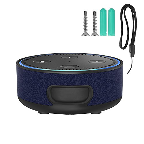 Echo Dot Wall Mount, Portable Carrying Protective Hard Case Wall Holder Mount for Echo Dot (2nd Generation)