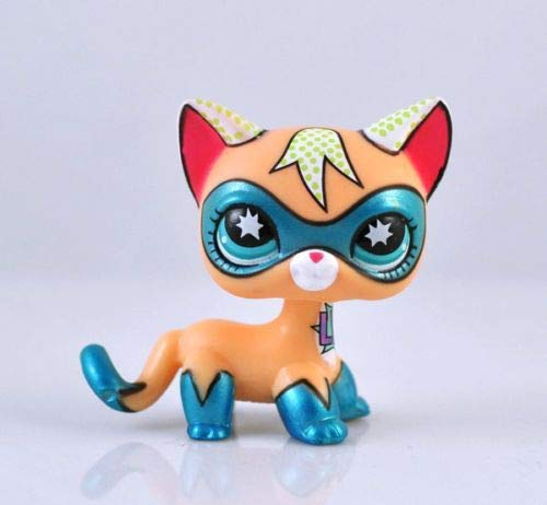 LLPs Rare Super Hero Short Hair Kitty Blue Eyes Cat Comic Con
