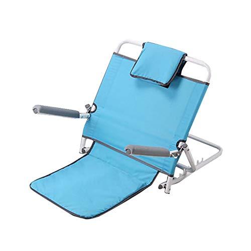 Inklapbare campingstoel, rugleuninghouder met armleuningen, naar huis instelbare rugleuning hoek van de rugleuningsteun veranderen om te eten, te lezen, te kijken en meer in bed, op de mat.
