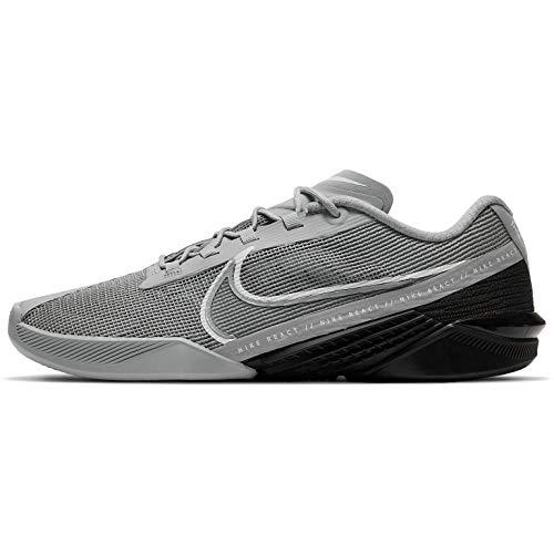 Nike React Metcon Turbo Ct1243-001 - Zapato de entrenamiento para hombre, Partículas Gris/Blanco-Negro, 44 EU