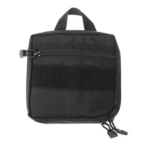 Molle Tactique Pochette Edc Utilitaire Extérieur Multi-usage Accessoire Sac Nylon Durable - Noir, Taille Unique