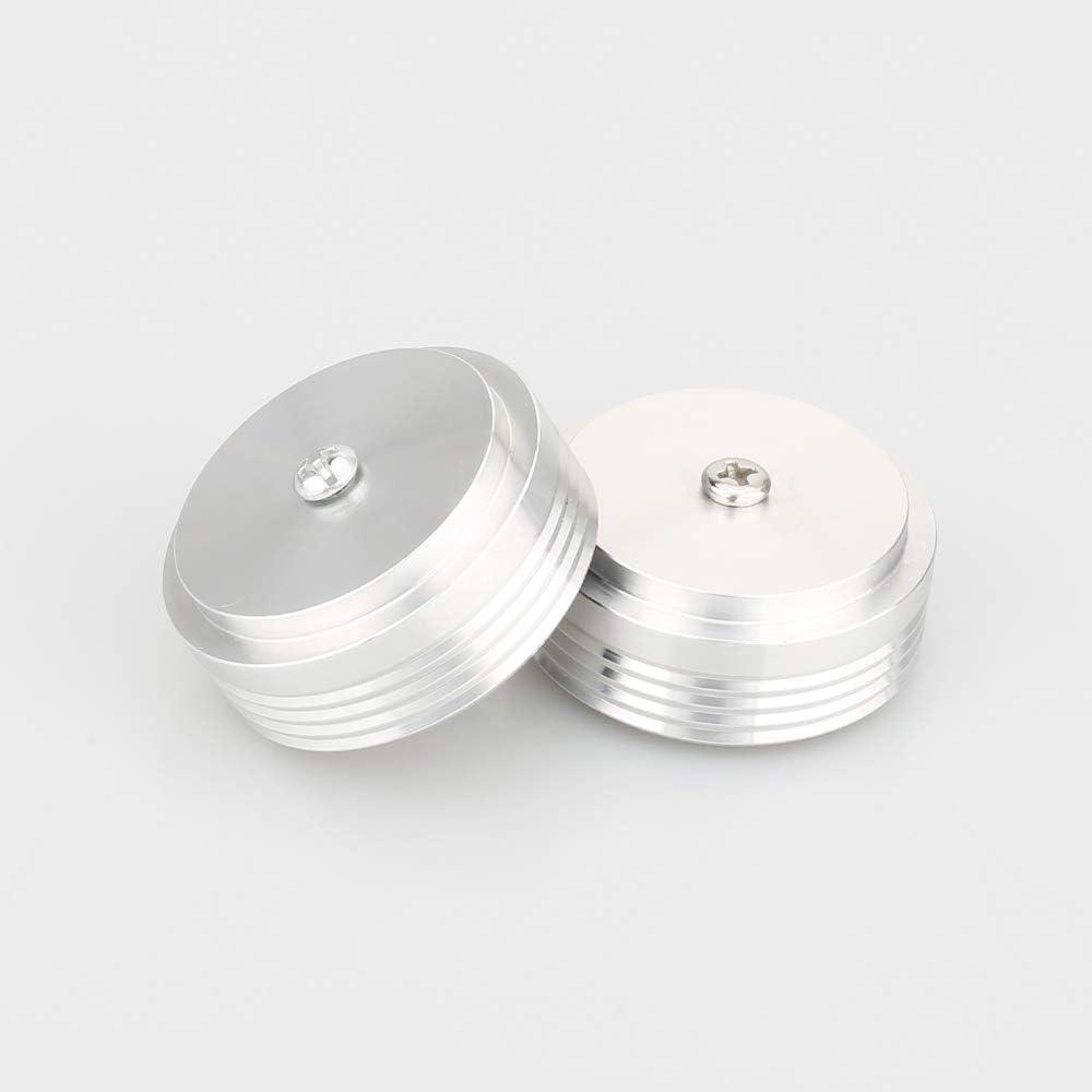 Moonsaudio 4PCs Aluminum Speaker Isolation Feet Vibration Proof Floor Protector Audio Speaker Base Pads for Loudspeaker//Subwoofer//Amplifiers//CD//AMP//Turntables//DVD Player//DAC Silver