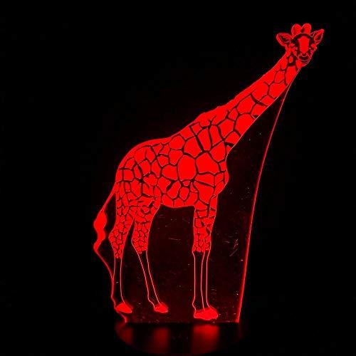 3D Night Lightillusion Lamp 7 Colors Change Optical Illusion Led Touch Sensor Lamp Boy Kids Toy Baby Sleep Desk Lamp Bedroom Decor Birthday Christmas Gift Goat Head