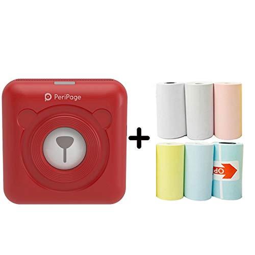 Térmica Portátil Bluetooth Impresora 58mm Mini Inalámbrica USB Recargable POS Imagen Foto Para Teléfono con 6 Rollos de Papel de Impresión