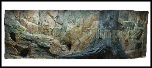 3D Aquarien Rückwand 120×60 Fels mit Wurzel - 2