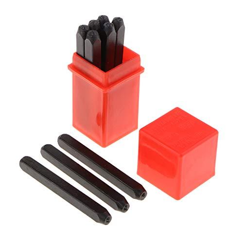 FLAMEER 2mm Metall Punch Stempel Stanzwerkzeug, Einschlagzahlen 8mm Schlagzahlen 0-9 Zahlen Werkzeuge zum Stanzen/Punsch Metall, Leder, Holz