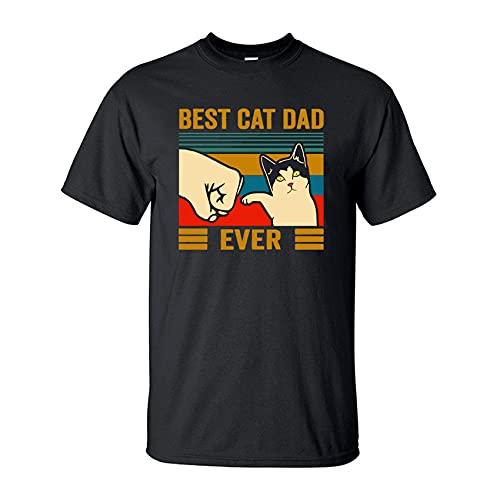 T-Shirt Estiva da Uomo in Puro Cotone A Maniche Corte Moda Carino Streetwear Animale Gatto Maschio Top Casual T-Shirt