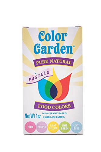 Color Garden Pure Natural Food Colors, PASTELS Pack 5 ct. 1 oz.