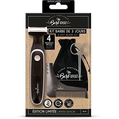 FRANCK PROVOST OP0670 - Kit barba 3 giorni: tosaerba ibrido, forbici da barba e baffi, pettine scolpito, sacchetto Barb'Xpert