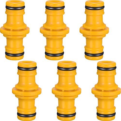 Hotop Doppelte Stecker-Schlauchanschluss-Verlängerung für Gartenschläuche, 6 Stück