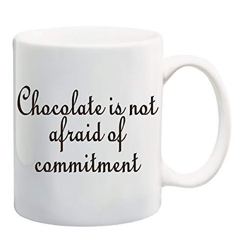 Chocolade is niet bang voor inzet mok Cup - 11 Ounces