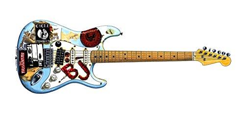 George Morgan Illustration Guitarra 'Blue' de Billie-Joe Armstrong Tarjeta de felicitación, DL tamaño