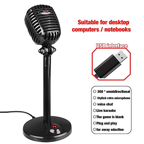 USB Microphone for Computer, 360-degree full-tone reception,...
