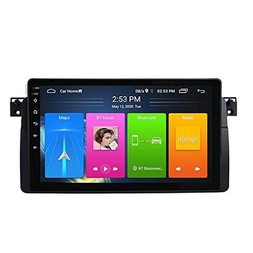 ADMLZQQ Android 10 Doble DIN Radio De AutomóVil para BMW E46 M3 1998-2006 Coche EstéReo GPS NavegacióN TáCtil Pantalla Multimedia Video Player Soporte WiFi/FM/SWC/BT,4GWifi 2+32