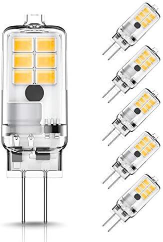 JandCase G4 LED Bulb 1 5W 20W Halogen Bulb Replacement AC DC 12V JC Type Bi Pin Base 3000K Soft product image