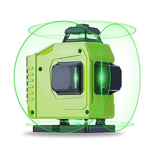 4D Laser Level, 16 Linien Laser Level 360 ° Grün/Blau Licht 4X 360 Cross Line Selbstnivellierung, Horizontale Und Vertikale Grad Rotationseinstellung,Grün,Set2