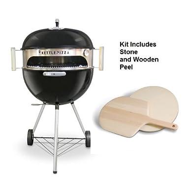 Deluxe KettlePizza Oven for Weber Kettle Grills - Bonus Woodfired Oven Cookbook