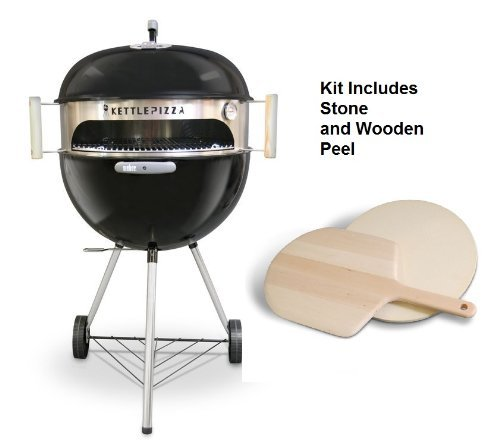 Deluxe horno KettlePizza para Weber parrillas eléctrica–Bonus woodfired horno...