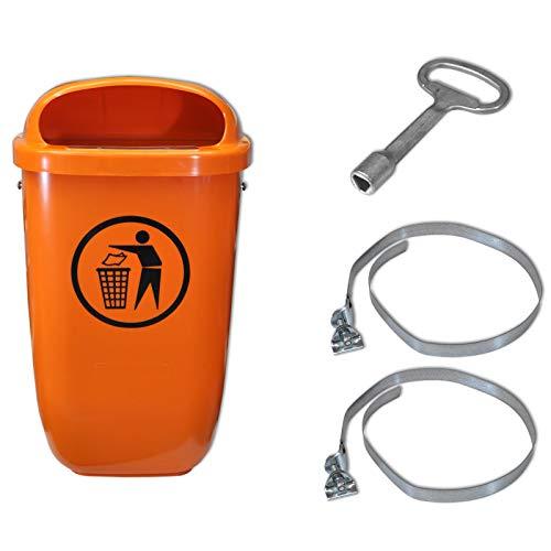 SCF GmbH Kunststoff-Abfallbehälter in RAL 2004 Reinorange lt. DIN 30713