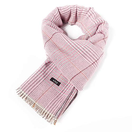 AXQ Simple Check Double-Sided Warm Scarf for Women