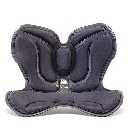 Bellissima cuscino di natiche, cuscino di sostegno lombare avvolto, cuscino della colonna vertebrale, cuscino di sollevamento glutei anti-hunched (Color : Black)