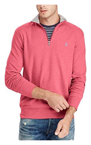 Polo Ralph Lauren Men's Quarter Zip Sweater (Small, Red Heather)