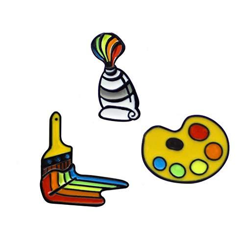 3PCS Kreative Japanische Sushi Emaille Broschen Pins Zubehör Kostüm Brooch Anstecknadel Dekoration für Frauen Mädchen Kleidung,Boutonniere Brosche Clip Schmuck (3PC)