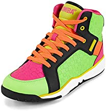 Zumba Energy Boom Comfy High Top Gym Shoes Dance Fitness Workout Shoes for Women, Multi, 5.5