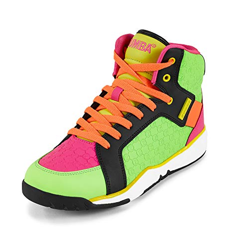 Zumba Energy Boom High Top Athletic Shoes Dance Gym Workout Sneakers for Women, Multi, 7.5