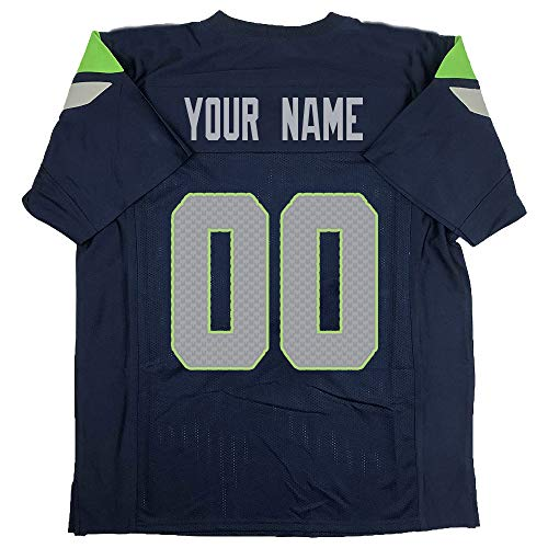 Custom Football Jersey Personalize Any Name and Number for Father's Day,Thanksgiving Interesting Gifts Jerseys (S.Seahawk)