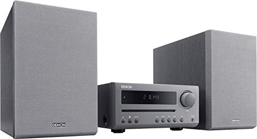 Denon D-T1 - Microcadena con Lector CD y Bluetooth, Color Gris