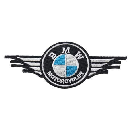 PATCHMANIA B.M.W. Motorcycles Logo 7,6 CM Parche, Parches Termoadhesivos,Parche Bordado para la Ropa Termoadhesivo