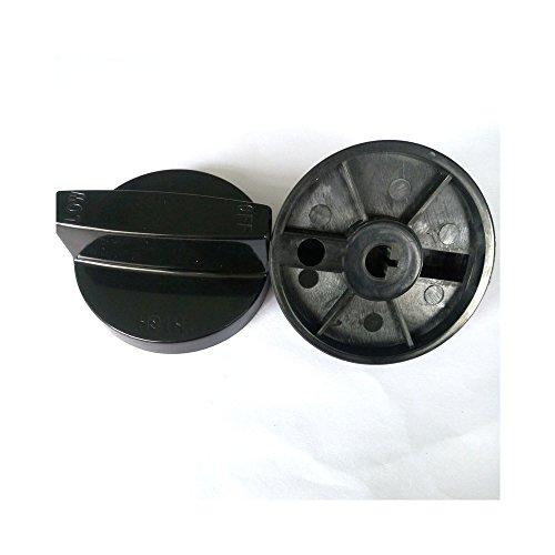 Earth Star Rotary Switch Gasherd Teile Gasherd Drehknopf Bakelit-Knopf mit Verchromung für Gasherd Packungen von 2
