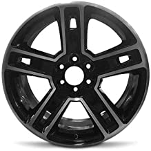 Road Ready Car Wheel For 2015-2018 Cadillac Escalade Sierra 1500 GMC Sierra Denali Chevrolet Silverado 1500 Suburban Chevrolet Tahoe GMC Yukon 22 Inch 6 Lug Black Machine Face (Diamond Cut) Aluminum