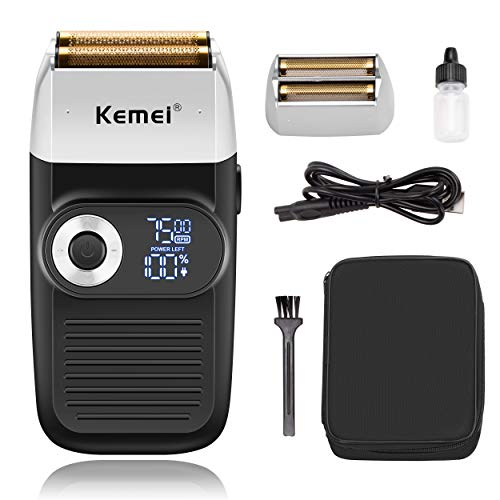 Kemei Professional Foil Shavers for Men Electric Razor with Bald trimming Cordless Electric Shavers LED Display 2 In 1