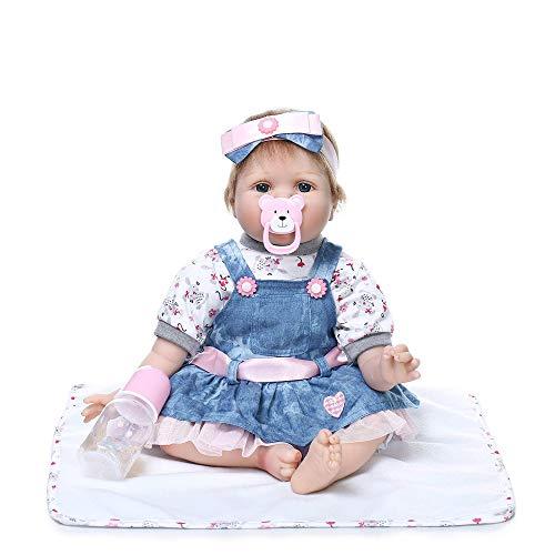 MCJL Real Touch realista Boneca Reborn Girl Roupa de malha de silicone macio, bonecas para meninas, bonecas renascidas com falsa grátis