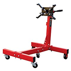 Rotating engine stand is constructed with heavy-duty steel, providing long term durability with an industrial luster; An extra-wide base provides maximum stability Mounting head features (4) adjustable arms and 360-degree rotation, allowing for easy ...