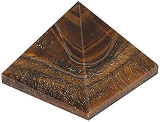 M K Cosmics Natural Gemstone Healing Tiger Eye Pyramid 1 Inches (25mm to 30mm)