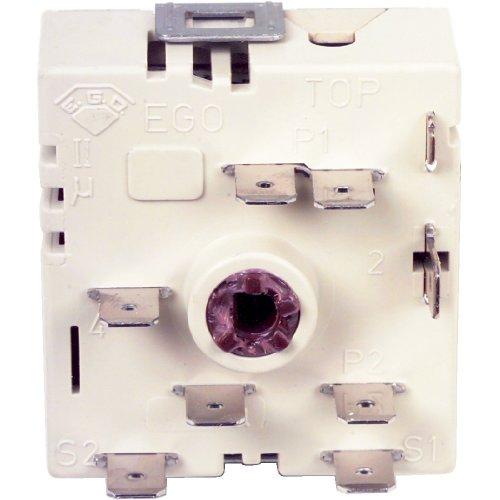 EGO Energieregler rechts steigend mit integrierter Zweikreiszuschaltung Bauserie 50.55021.100 / 5067021590, Leistung: 240V / 13 A