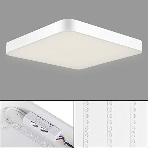 Plafón led techo, 24W 40x40CM Blanco cálido Plafón led - 3000k LED Lámpara de Techo Moderna, LED luz de techo Cuadrado, Ultra Delgado Downlight para Sala de estar Comedor Balcón