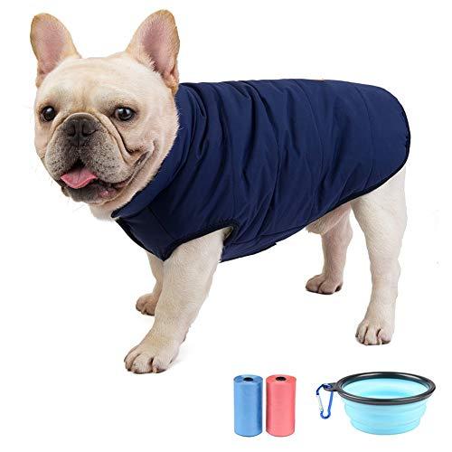 TVMALL Chaquetas para Perros Abrigo de Invierno para Perros a Prueba de Viento con Forro Polar cálida de Chaleco Clima frío Ropa para Perros Adecuado Disfraces para Perros pequeños y medianos