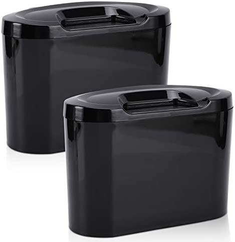 Accmor Car Trash Can with Lid Vehicle Trash Bin Car Dustbin Garbage Organizer Holder 2 Pack product image