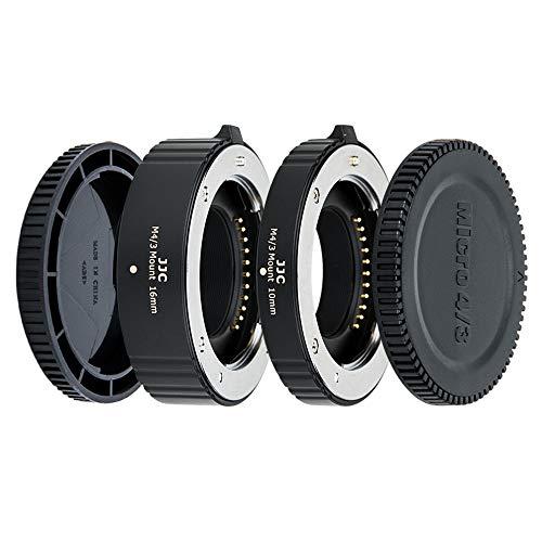 JJC 2-Pièce (10mm 16mm) Métal Ensemble Tube d'Extension Automatique Macro pour Olympus et Panasonic Micro 4 3 (MFT) Caméra