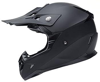 Motorcycle Motocross ATV Helmet DOT Approved - YEMA YM-915 Motorbike Moped Full Face Off Road Crash Cross Downhill DH Four Wheeler MX Quad Dirt Bike Helmet for Adult Men Women - Matte Black,L