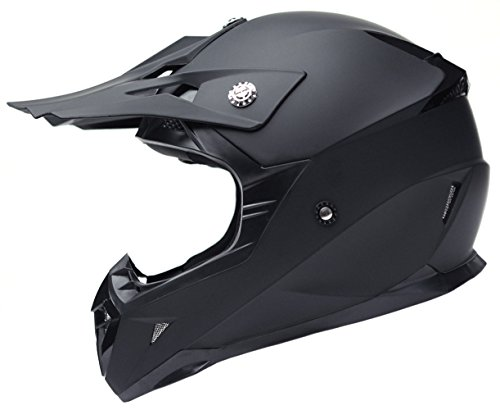 Motorcycle Motocross ATV Helmet DOT Approved - YEMA YM-915 Motorbike Moped Full Face Off Road Crash Cross Downhill DH Four Wheeler MX Quad Dirt Bike Helmet for Adult Men Women - Matte Black,XL