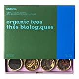 DAVIDsTEA Organic Tea Sampler, Loose Leaf Tea Gift Set, Perfect Host Gift, 12 Organic Teas, 3.8 oz / 107 g